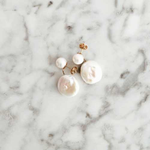Tomber Amoureux Casablanca White Baroque & Soufflé Pearl Earrings